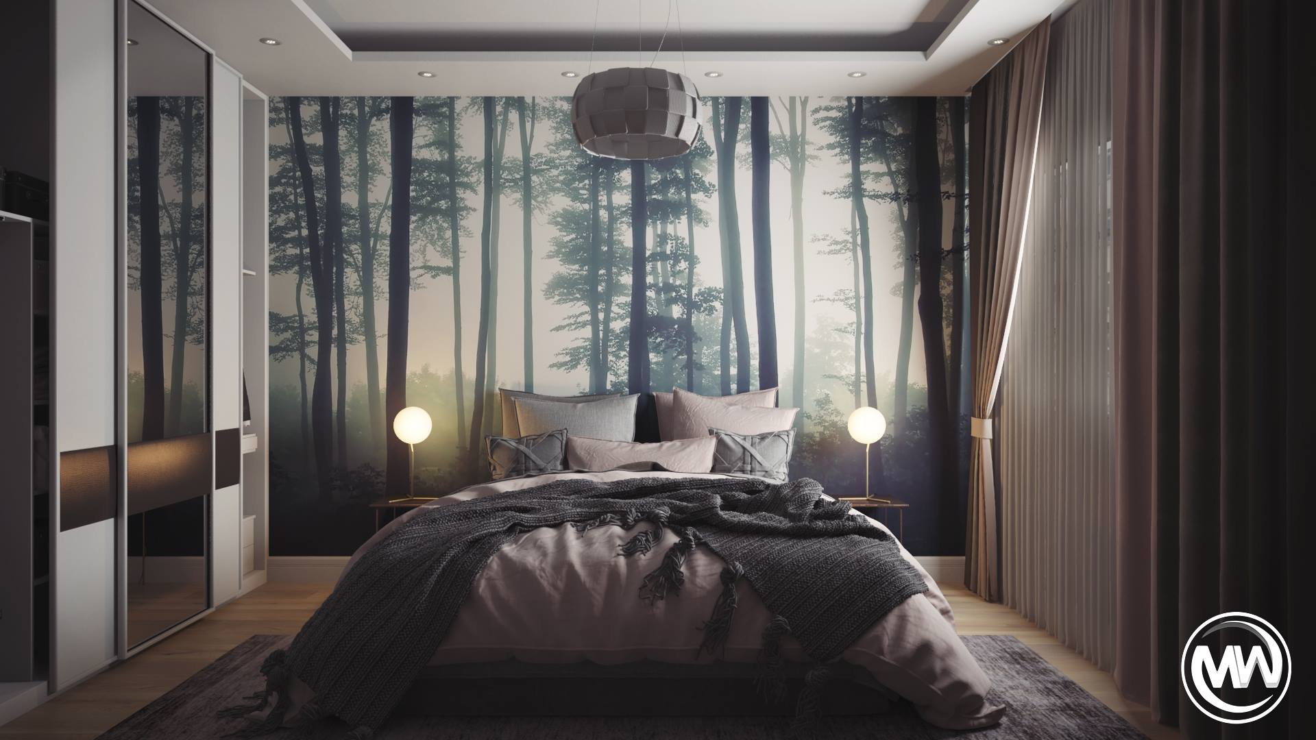 FREE 3D MODELS >> 'Full bedroom scene' by Mahmoud Wagdi | 3D Empire